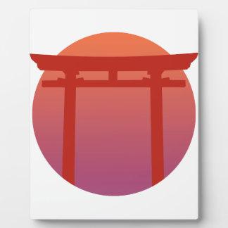 Red Japanese Torri Gate - Sunset - Zen - Japanese Plaque