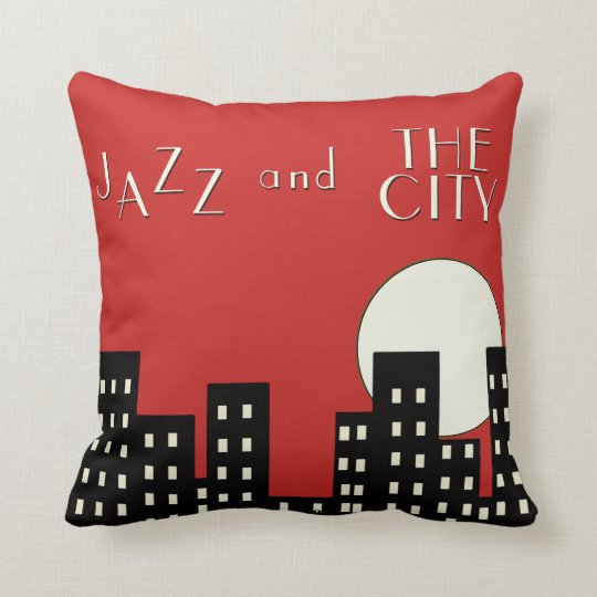 Red Jazz and the City Cushion