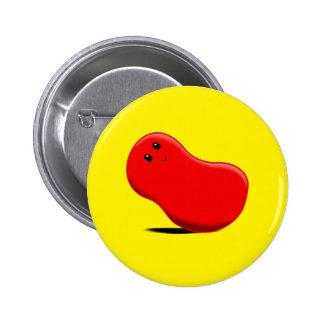 Red Jellybean Button