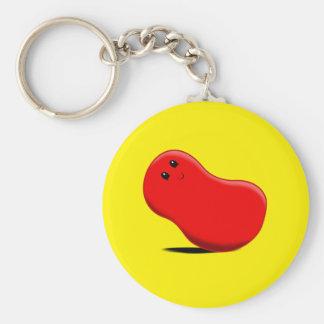 Red Jellybean Keychain