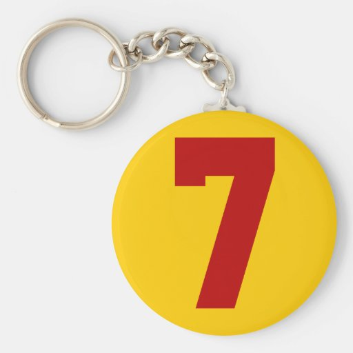 Red Jersey Number 7 Key Chain
