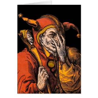 Red Jester Note Card
