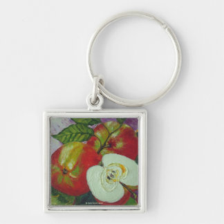 Red Jonagold Apples Key Chain