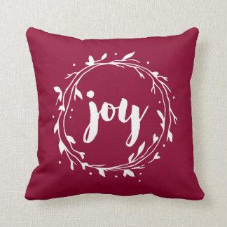 Red Joy Wreath Cushion