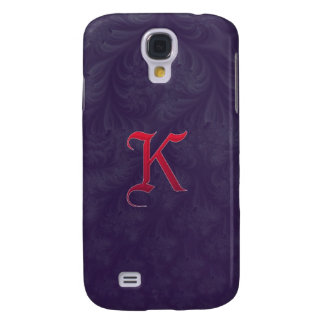 Red 'K' on purple embossed effect 3D fractal HTC Vivid Covers