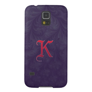 Red 'K' on purple embossed effect 3D fractal Samsung Galaxy Nexus Cover