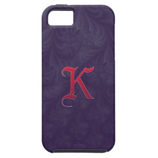 Red 'K' on purple embossed effect 3D fractal. iPhone 5 Cases