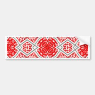 Red kaleidoscope bumper sticker