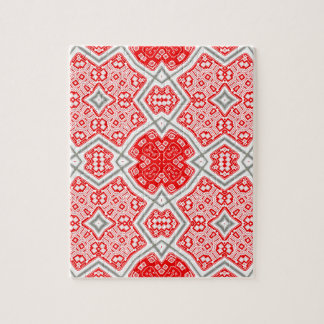Red kaleidoscope jigsaw puzzle