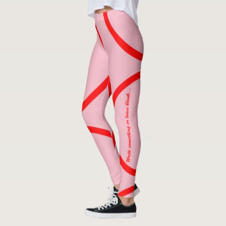 Red kamon circle leggings