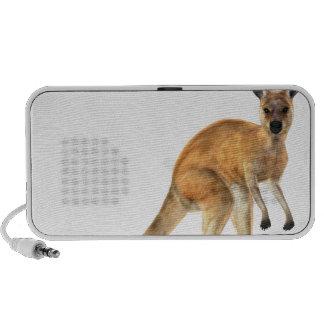 Red Kangaroo In Side View Mp3 Speakers