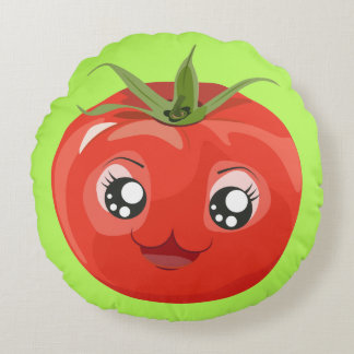 Red kawaii tomato Pillow