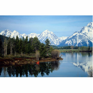 Red Kayak, Grand Teton National Park, USA Standing Photo Sculpture