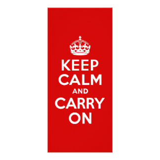 Red Keep Calm and Carry On Rack Card