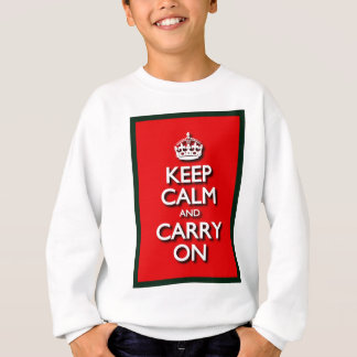 Red Keep Calm And Carry On Sweatshirt
