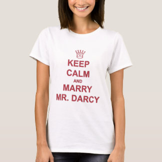 Red - Keep Calm and Marry Mr. Darcy T-Shirt