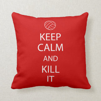 Red Keep Calm Volleyball Pillow
