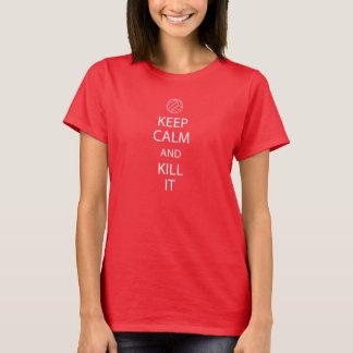 Red Keep Calm Volleyball shirt