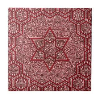 red khayameya small square tile