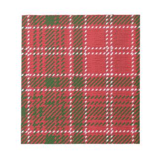Red Kilt Tartan Notepads