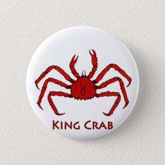 Red King Crab (color illustration) 6 Cm Round Badge