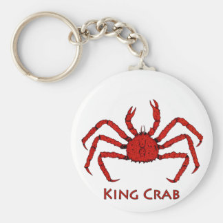 Red King Crab (color illustration) Key Ring