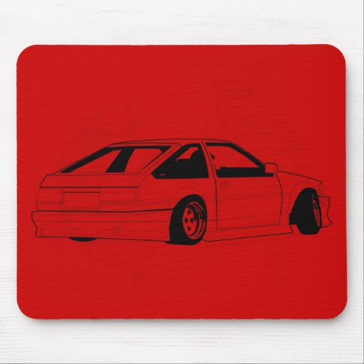 Red KIS Levin AE86 Mouse Pads