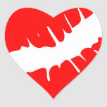 Red Kiss Heart Stickers