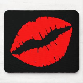 Red Kiss Mouse Mat