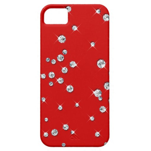 Red Kiss of White Diamonds Case For iPhone 5/5S
