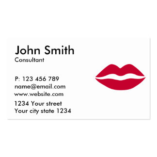 Red kiss pack of standard business cards