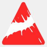 Red Kiss Triangle Sticker