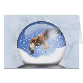 Red Kite in a Globe Card