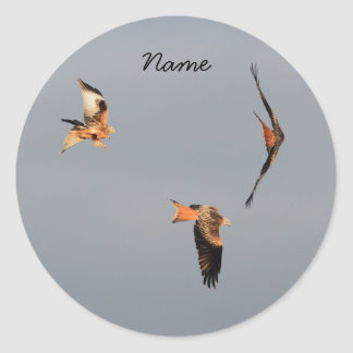 Red Kite Thank You Classic Round Sticker