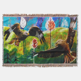 Red Kites of Wales Throw