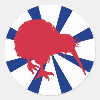 Red Kiwi Classic Round Sticker
