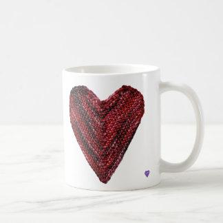Red Knit Heart Mug
