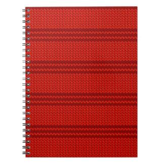 Red Knit Spiral Notebook