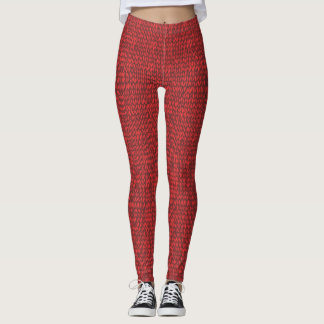 red knit sweater leggings