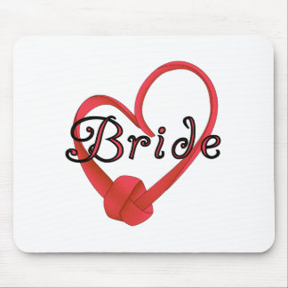 Red Knot Heart Bride Mouse Pad