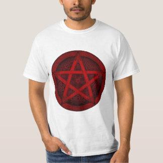 Red Knot Pentagram Tee Shirts