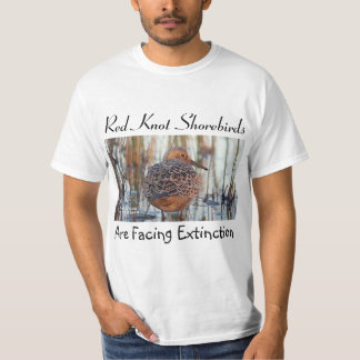 Red Knot Shorebirds Face Extinction by RoseWrites T-Shirt