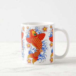 RED KOI FISH DESIGN COFFEE MUG