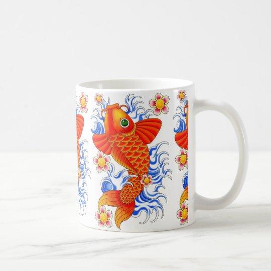 Red Koi Fish Design Coffee Mug Zazzle Co Uk