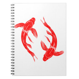Red Koi Fish Notebooks
