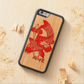 """Red Koi Phone Case"" Carved® Cherry iPhone 6 Bumper Case"