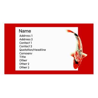 Red Koi Traditional Business Card