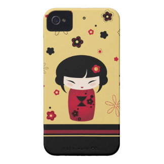 Red Kokeshi Case-Mate iPhone 4 Cases