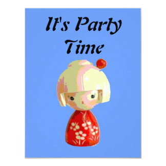 Red Kokeshi Invites