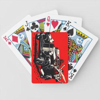 Red Krampus Kidnapping Women Car Bicycle Playing Cards